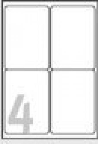 Avery Etichette in poliestere bianco - per stampanti Laser - 99,1 x 139 mm cod. L4774-20