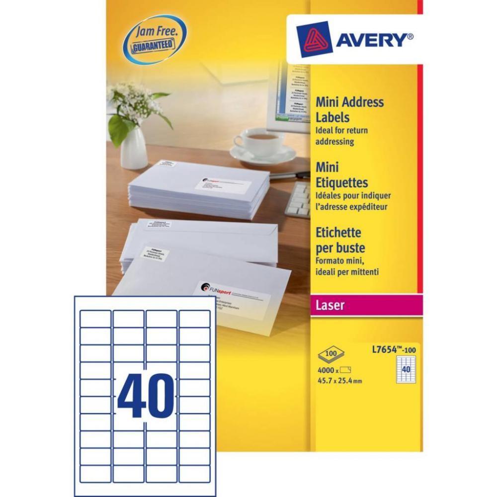 Avery L7654-100 etichetta per stampante Bianco Etichetta per stampante autoadesiva cod. L7654-100