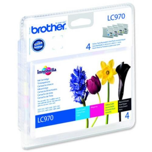 Brother LC-970 Quad Pack Ink Cartridges (CMYK) - LC970VALBP