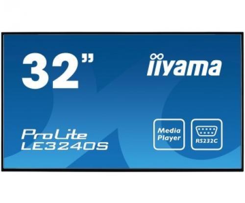 "iiyama ProLite LE3240S-B1 81,3 cm (32"") LED Full HD Digital signage flat panel Nero cod. LE3240S-B1"