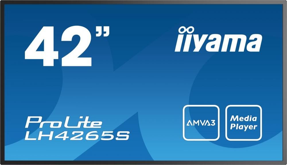 "iiyama LH4265S 106,7 cm (42"") LED Full HD Digital signage flat panel Nero cod. LH4265S-B1"