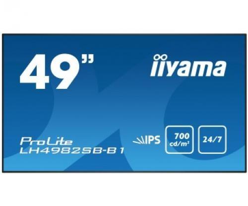 "iiyama LH4982SB-B1 visualizzatore di messaggi 124,5 cm (49"") LED Full HD Nero cod. LH4982SB-B1"