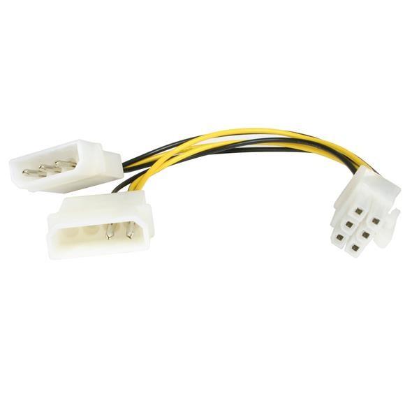 StarTech.com Cavo adattatore alimentazione Scheda video PCI Express - LP4 a 6 Pin - 15cm cod. LP4PCIEXADAP