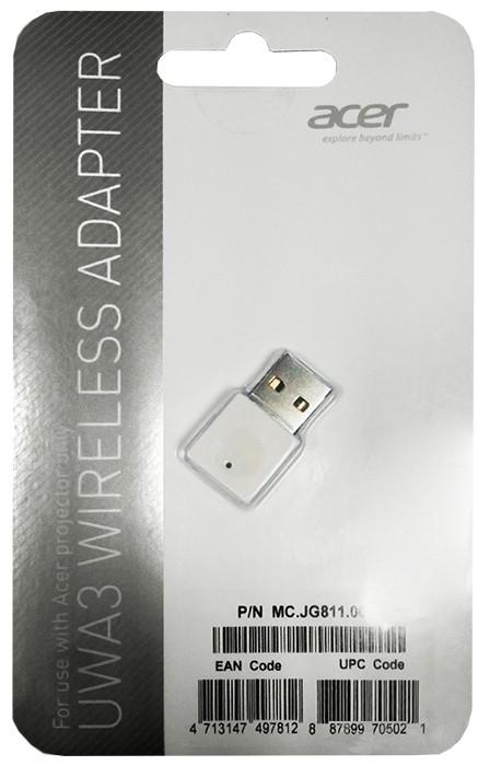 Acer UWA3 USB Wi-Fi Adattatore penna USB cod. MC.JG811.00E