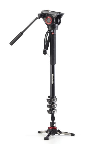 """Manfrotto MVMXPRO500 monopiede per fotocamera Alluminio 1/4, 3/8"""" Nero cod. MVMXPRO500"""