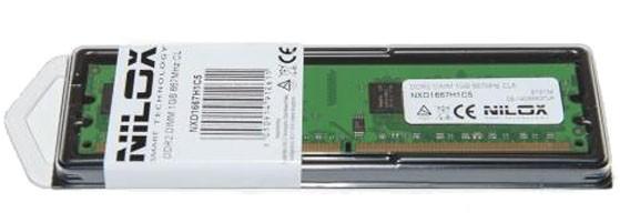 Nilox 1GB PC2-5300 memoria 1 x 1 GB DDR2 667 MHz cod. NXD1667H1C5