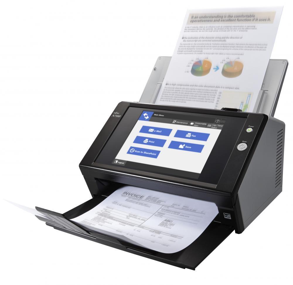 Fujitsu N7100 600 x 600 DPI Scanner ADF Nero A4 cod. PA03706-B001