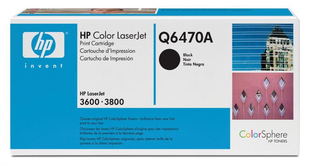 HP Color LaserJet Q6470A Black Print Cartridge - Q6470A