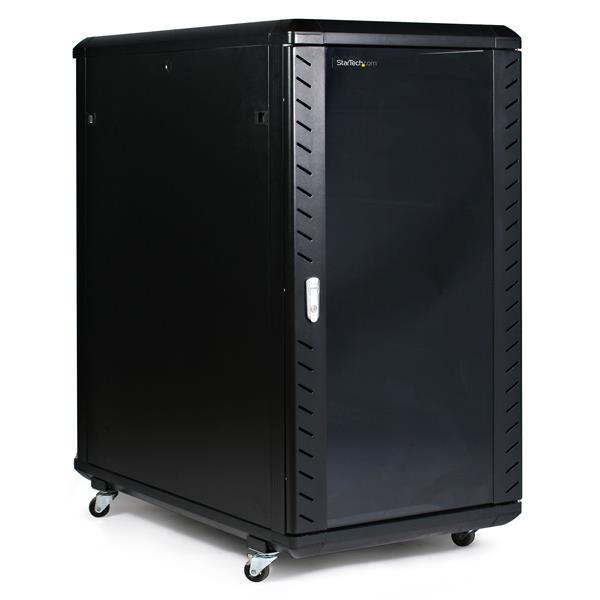 """StarTech.com Armadio server chiuso a ribalta 22U da 36"""" con ruote cod. RK2236BKF"""