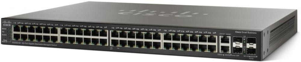 Cisco SG500-52MP Gestito L2 Gigabit Ethernet (10/100/1000) Nero 1U Supporto Power over Ethernet (PoE) cod. SG500-52MP-K9-G5
