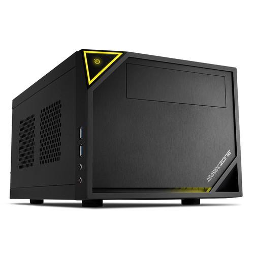 Sharkoon SHARKOON CASE MINI-ITX, 2 SLOT, SIDE PANEL METAL, 37.0 X 22.5 X 18.0 CM, USB 3.0,  1X 120 MM FAN (PRE-INSTALLED), DRIVE BAYS 2,5-3,5 - SHARK ZONE C10