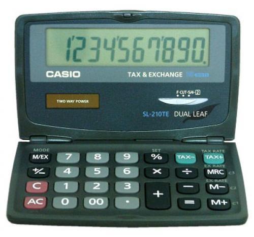 Casio SL-210TE calcolatrice Tasca Calcolatrice di base Nero cod. SL-210TE