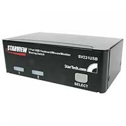StarTech.com Kit switch KVM USB professionale a 2 porte con cavi cod. SV231USBGB