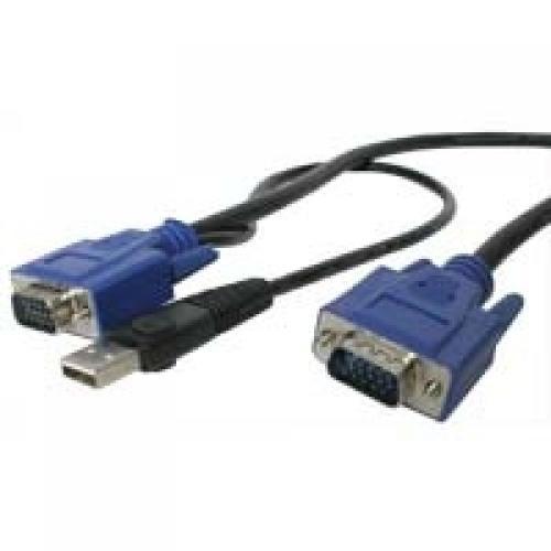 StarTech.com Cavo sottile KVM, VGA, USB, 2 in 1 1,3 m c.a. cod. SVECONUS10