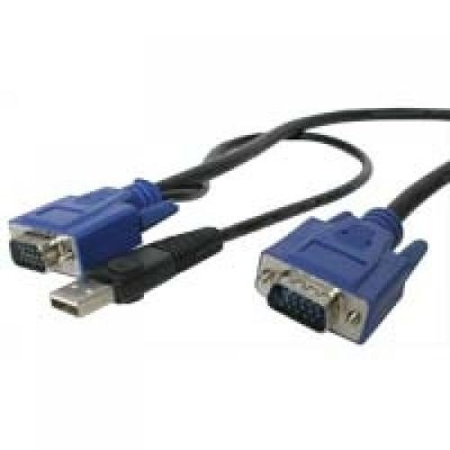 StarTech.com Cavo KVM USB ultra-sottile 2 in 1 4,5 m cod. SVECONUS15