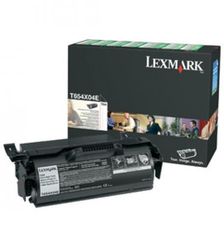Lexmark T654X04E cartuccia toner Original Nero 1 pezzo(i) cod. T654X04E