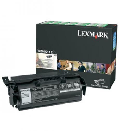 Lexmark T654 Extra High Yield Return Program Print Cartridge Original Nero cod. T654X11E
