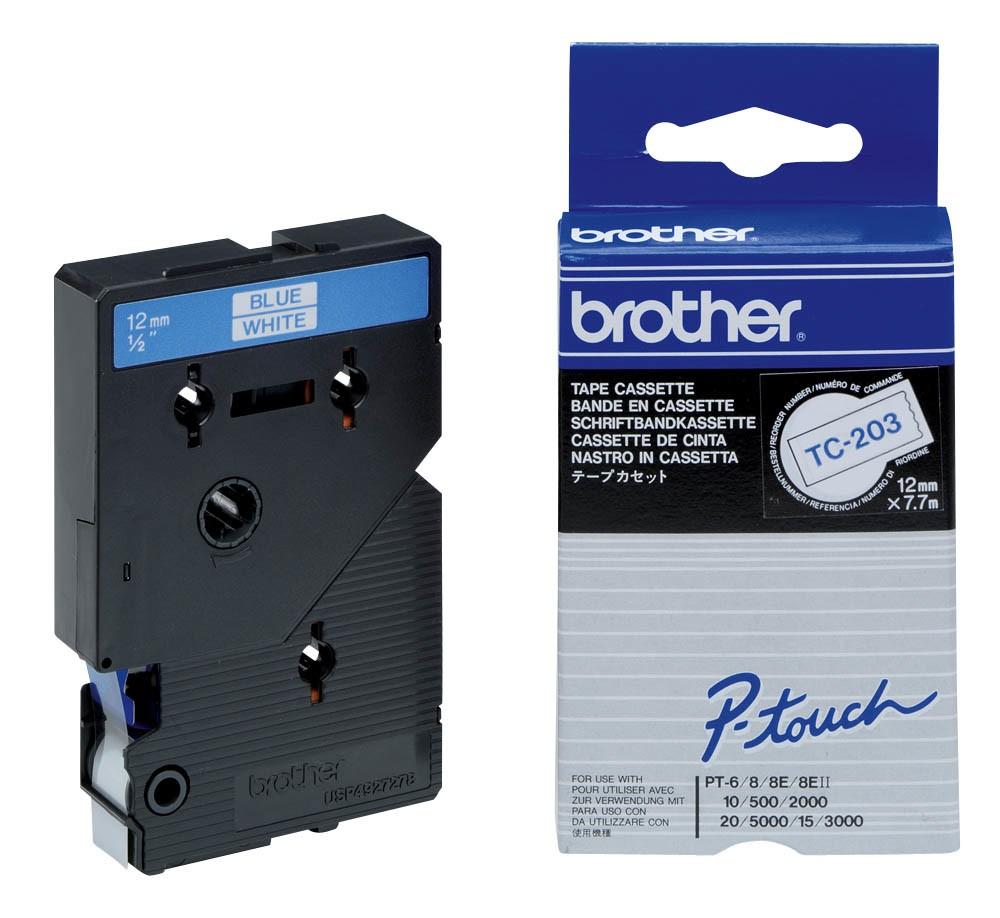 Brother Nastro per etichettatura 12mm cod. TC-203