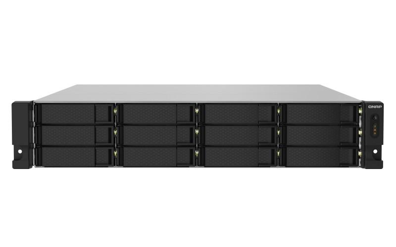 QNAP TS-1232PXU-RP AL324 Collegamento ethernet LAN Armadio (2U) Nero NAS cod. TS-1232PXU-RP-4G