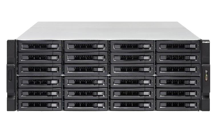 QNAP TS-EC2480U R2 NAS Armadio (4U) Collegamento ethernet LAN Nero, Grigio cod. TS-EC2480U-E3-4GE-R2