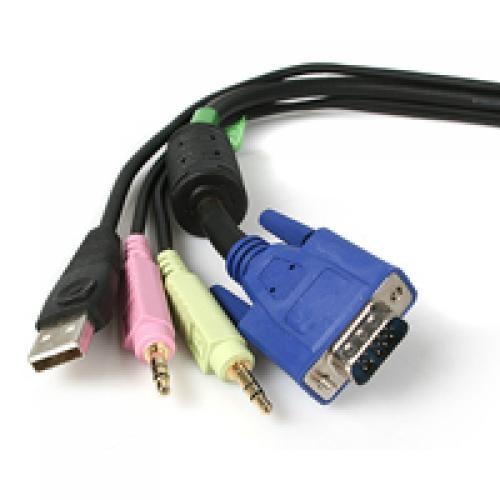 StarTech.com Cavo switch KVM VGA USB 4 in 1 da 1,8 m con audio e microfono cod. USBVGA4N1A6