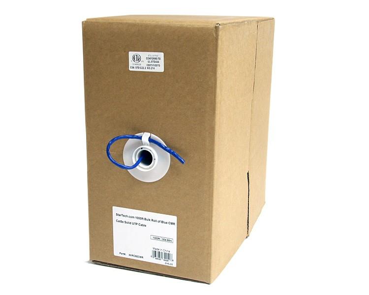 StarTech.com Rotolo in serie di cavi UTP solidi CMR Cat5e, 304,8 m, colore blu cod. WIRC5ECMR