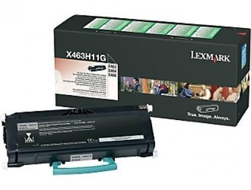 Lexmark X463, X464, X466 High Yield Return Program Toner Cartridge Original Nero cod. X463H11G