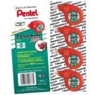 Pentel 0100819 nastro di correzione Rosso 10 m cod. 0100819