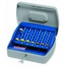 Lebez 098 Blu, Grigio cassetta per monete e banconote cod. 098
