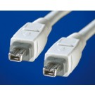 Value IEEE1394a Cable, 4/4-pin, 400 Mbit/s, Type B-B 1.8 m cod. 11.99.9318