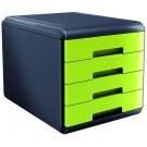ARDA Cassettiera MyDesk 4 Cassetti Verde cod. 18P4PV