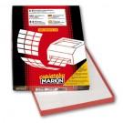 Markin C572 etichetta autoadesiva Bianco Rettangolo Permanente 3400 pezzo(i) cod. 210C572