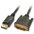 Lindy 41490 cavo e adattatore video 1 m DVI-D DisplayPort Nero cod. 41490