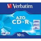 Verbatim CD-R Super AZO Crystal 700 MB 10 pezzo(i) cod. 43327/10
