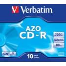 Verbatim CD-R AZO Crystal 700 MB 10 pz cod. 43327