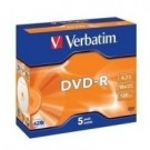 Verbatim DVD-R Matt Silver 4,7 GB 5 pezzo(i) cod. 43519/5