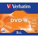 Verbatim DVD-R Matt Silver 4,7 GB 5 pezzo(i) cod. 43519