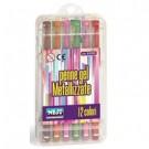 Niji 61133 penna gel Penna in gel con cappuccio Multicolore 12 pezzo(i) cod. 61133