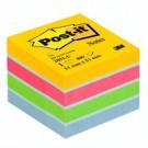 Post-It 2051-U pouch autoadesiva Quadrato Blu, Verde, Rosa, Giallo cod. 76239
