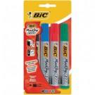 BIC Marking 2300 marcatore permanente Nero, Blu, Verde, Rosso Punta smussata 4 pezzo(i) cod. 8209222