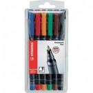 Stabilo OHPen universal permanent, 6 Pack Tipo di punta Nero, Blu, Marrone, Verde, Arancione, Rosso 6pezzo(i) marcatore permanente cod. 842/6