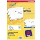 Avery J8162-25 Bianco etichetta per corrispondenza cod. J8162-25