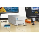 LaCie 2big Dock Thunderbolt 3 16TB 16000GB Scrivania Argento array di dischi cod. STGB16000400