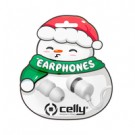 Celly WIRED EARPHONE XMAS SNOW SHAPE - XMASEARSNOWWH