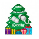 Celly WIRED EARPHONE XMAS TREE SHAPE - XMASEARTREEWH
